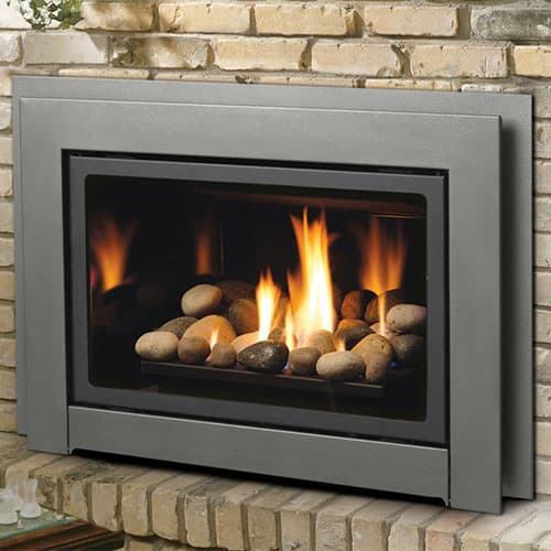 Gas fireplace inserts can update or replace a traditional masonry fireplace with modern style while giving you the reliability and easy starting of a gas system.